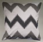 "Cushion Cover in Next Grey White Chevron Stripe Matches Bedding 14"" 16"" 18"" 20"""